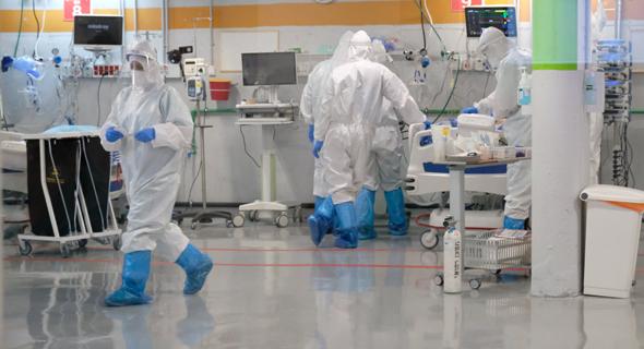 The re-opened Covid-19 ward at Sheba Medical Center. Photo: Shaul Golan