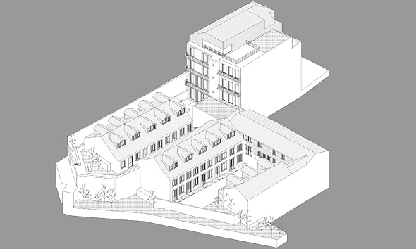 A sketch of Willa's building in Porto. Photo: Willa