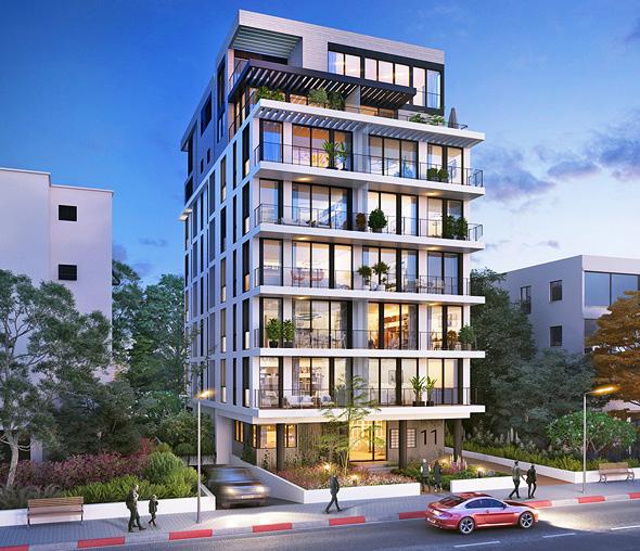 """הפרויקט בזכרון יעקב 11. """"שמים את בעלי הדירות במרכז"""" , אדריכלות: מילבאואר אדריכלים"""