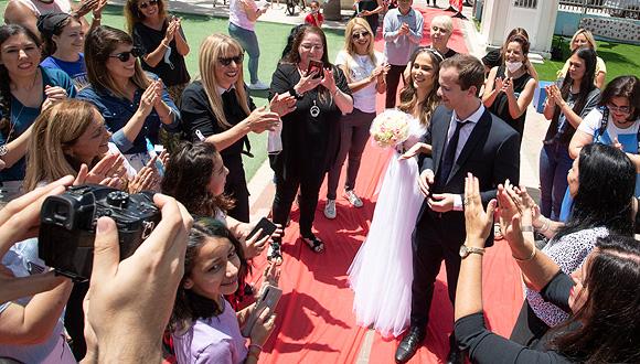 חתונה בימי קורונה, צילום: גיל נחושתן