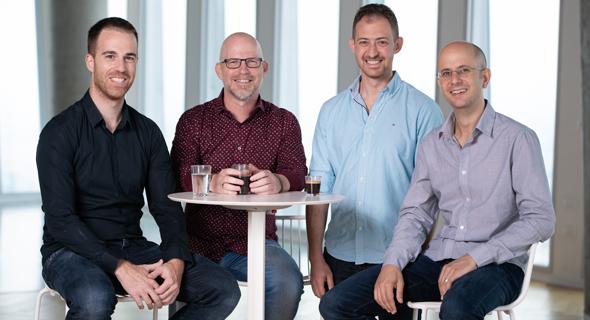 צוות Nucleai. מימין: לוטן חורב, אלירון אמיר, אבי ויידמן ואלברט אכטרברג, צילום: דויד גארב