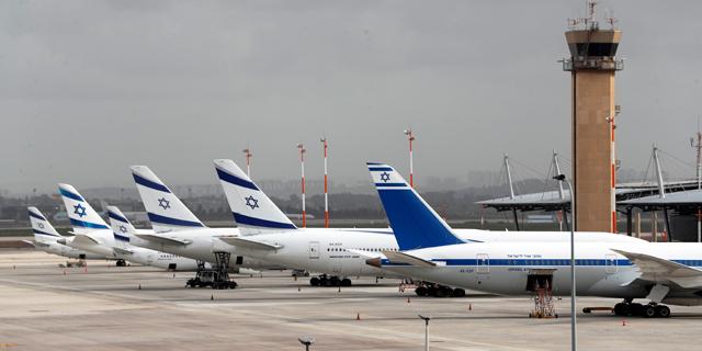 """מטוסים מושבתים אל על חברת תעופה נתב""""ג קורונה , צילום: רויטרס"""