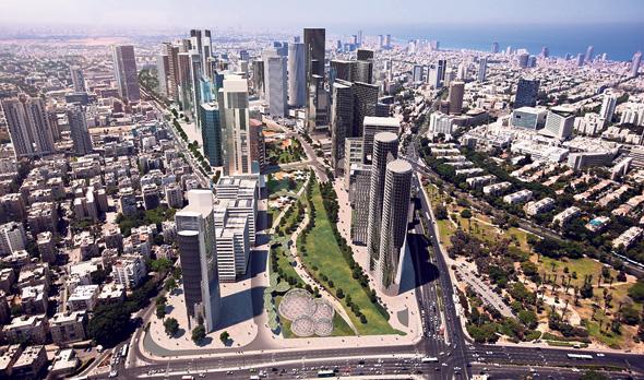 הדמיית קירוי איילון בתל אביב. עלות הפרויקט מוערכת ב־2 מיליארד שקל
