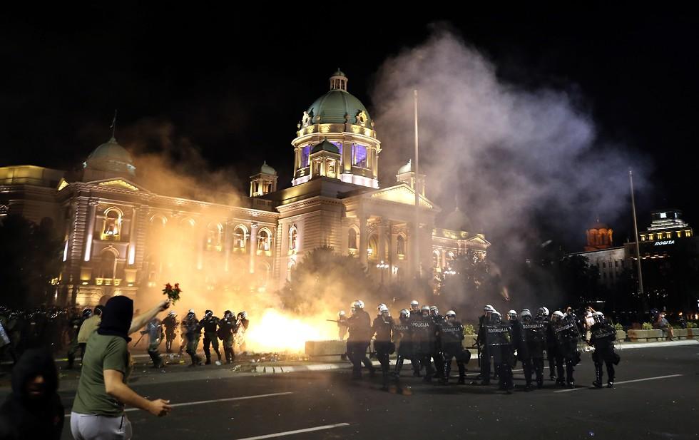 המחאה בסרביה