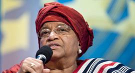 אלן ג'ונסון סירליף נשיאת ליבריה לשעבר וכלת פרס נובל לשלום , צילום: בלומברג