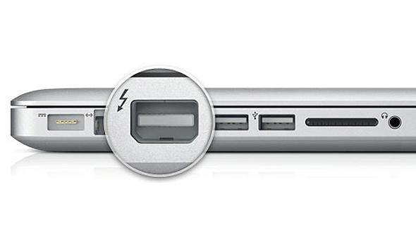 חיבור Thunderbolt של אפל, צילום: Apple inc