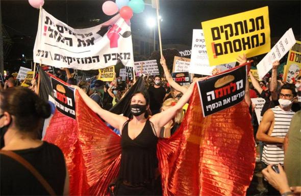 המחאה בעיצומו של המשבר הכלכלי, צילום: מוטי קמחי