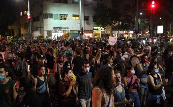 ההפגנה אתמול בתל אביב