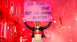 עובדת תעשיית המין בהמבורג, צילום: גטי אימג'ס