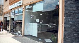 """עסקים ב כיכר המדינה בת""""א שנסגרו משבר כלכלי קורונה, צילום: יאיר שגיא"""