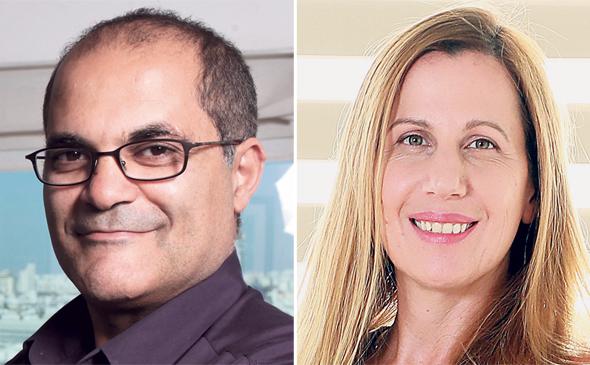 """מנכ""""לית אספן צופית הראל ובעל השליטה רוני צארום, צילומים: עמית שעל, דנה קופל"""