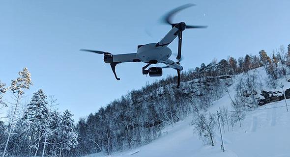 An Atlas Pro drone fliying in the Norwegian mountains. Photo: Atlas Dynamics