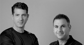 REE Automotive founders Daniel Barel (left) and Avishay Sardes. Photo: Yuval Chen