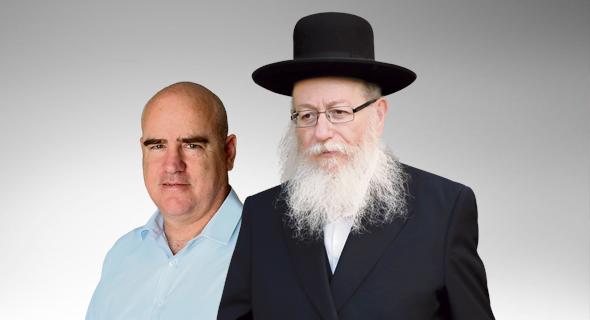 מימין יעקב ליצמן ועדיאל שרון