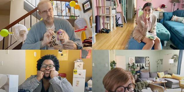 אפל עבודה מהבית, צילום: אפל (צילום מסך מפרסומת ביוטיוב)
