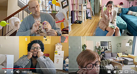 מתוך הפרסומת של אפל, עבודה מהבית, צילום: אפל (צילום מסך מפרסומת ביוטיוב)