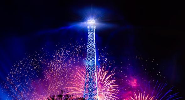 """צרפת מגדל אייפל יום הבסטיליה , קרדיט: יח""""צ"""