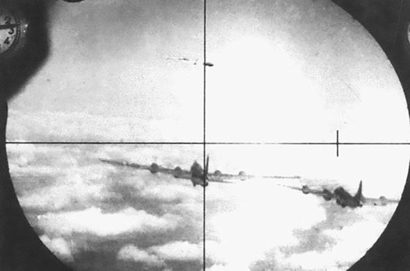 מטוסי RB29 במצלמת תותח של מיג 15