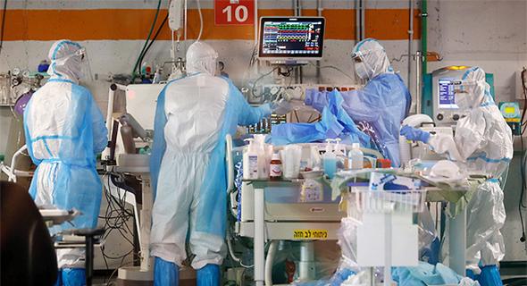 מחלקת קורונה בבית החולים שיבא תל השומר