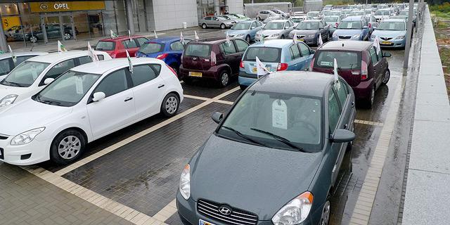 מגרש מכוניות של חברת ליסינג, צילום: יריב כץ