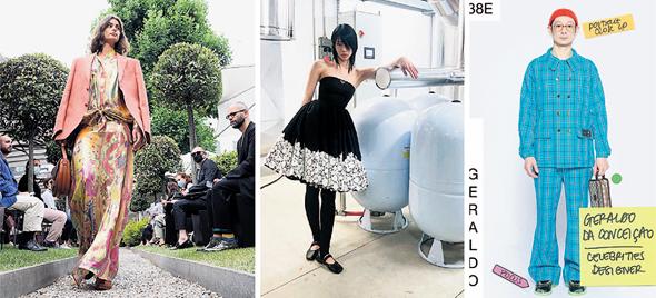 מימין: תצוגות האופנה של גוצ'י פראדה ואטרו
