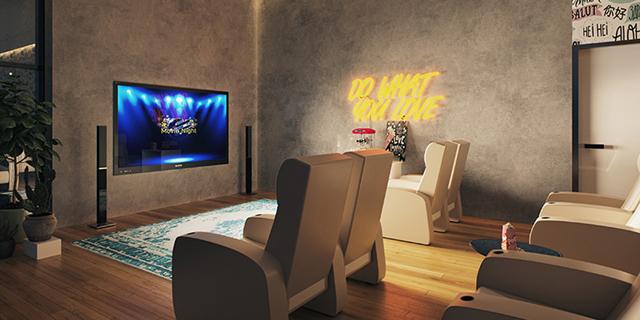 פרויקט אלקטרה חדר קולנוע זירת הנדלן, הדמיה: 3dvision