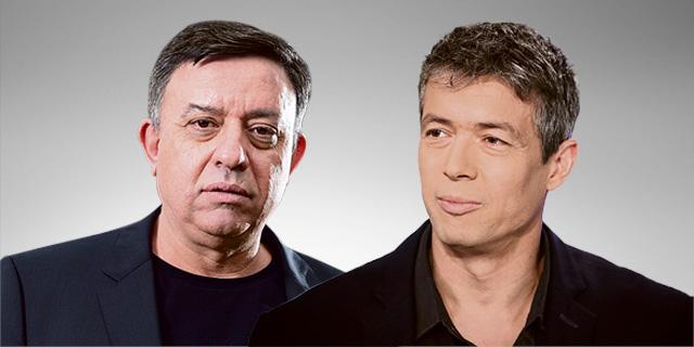 מימין יועז הנדל ו אבי גבאי, צילום: אבי מועלם אלכס קולומויסקי