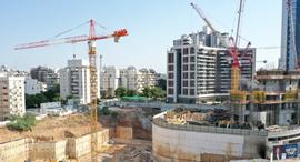 בניין באתר בנייה, צילום: אוראל כהן