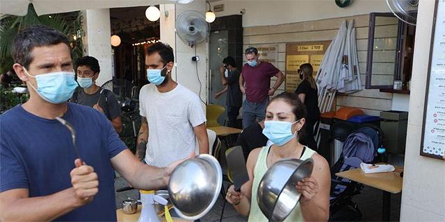מחאה של מסעדנים, צילום: מוטי קמחי