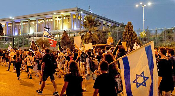המחאה בדרך לכנסת, הערב
