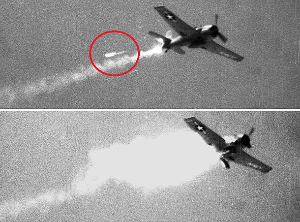 ניסוי מוצלח: מטוס הלקט שנשלט מרחוק מושמד בפגיעת טיל, צילום: USN