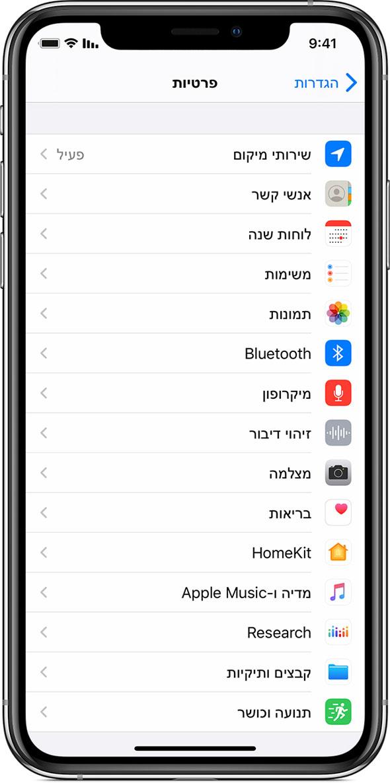 שירותי מיקום באייפון