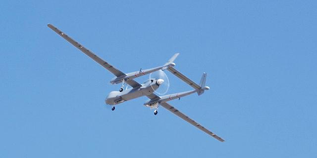 """מל""""ט הרון TP מתוצרת התעשייה האווירית, צילום: דוברות משרד הביטחון"""