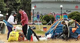 """מחוסרי בית ב סיאטל ארה""""ב, צילום: אם סי טי"""
