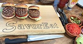המבורגר הדפסת תלת מימד SavorEat, צילום: SavorEat