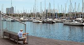 נמל ברצלונה ריק, צילום: אי פי איי