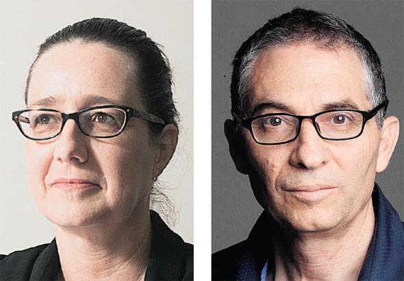 מימין: פרופ' ברק מדינה ופרופ' דפנה הקר. בין חותמי מכתב התמיכה בשופטים