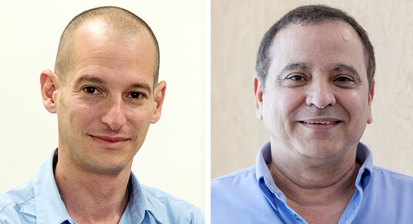 מימין: בעל השליטה בישראמקו קובי מימון ואריאל יוצר