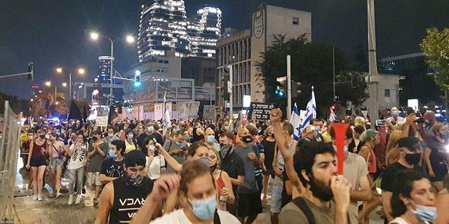עימותים ועצורים במחאה נגד נתניהו, איילון נחסם