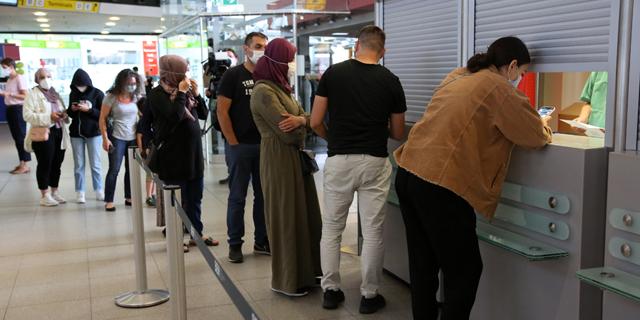 בדיקות קורונה בשדה התעופה טגל, שייסגר ב-8 בנובמבר, צילום: גטי אימג