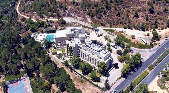 מלון יהודה בירושלים וסביבתו המיועדת לתוכנית הבנייה