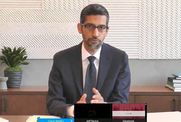 """מנכ""""ל גוגל סונדאר פיצ'אי בעדות בקונגרס"""