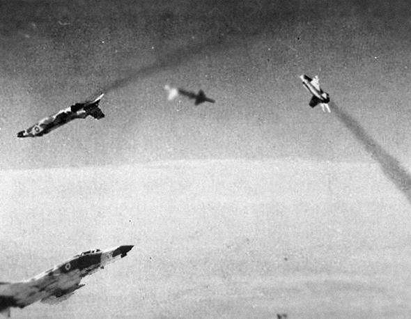 Bataille aérienne (illustration)