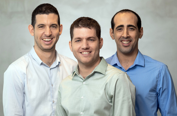 Fouders of Buildots (from right) Yakir Sudry, Roy Danon and Aviv Leibovici. Photo: Eyal Tuag
