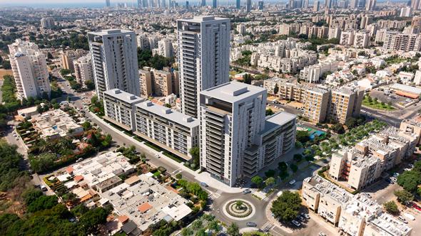 הדמיית התוכנית במתחם לבנה בתל אביב