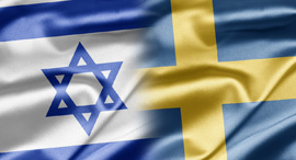 The flags of Israel and Sweden. Photo: Shutterstock