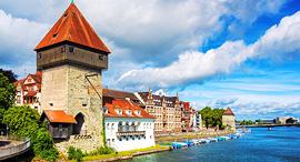 פוטו גבולות מוזרים Konstanz גרמניה שוויץ, צילום: שאטרסטוק