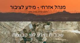 אתר המנהל האזרחי ליהודה ושומרון בעברית בלבד, קרדיט: צילום מסך