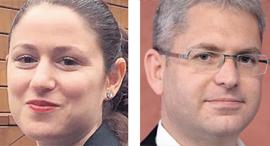 מימין: מאיר לוין עורך דין  ו עורכת ה דין מיכל אלבז, צילום: גיא אסיאג