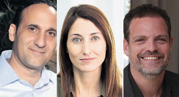 """מימין: היזם לירון רוז, דפנה וינוקור־בירן מקרן Janvest ואביחי מיכאלי, יועץ לסטארט־אפים. """"משלמים על הביטחון הזה בהמשך"""""""